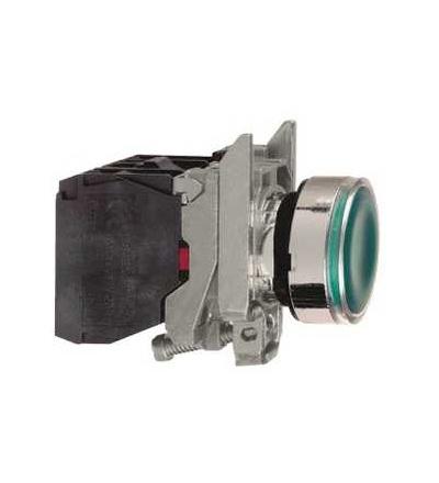 Schneider Electric XB4BW33M5 Zelená ovládač stiskací prosvětlený lícující ? 22 s návratem 1Z+1V 220...240V