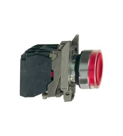 XB4BW34M5 červená ovládač stiskací prosvětlený lícující ? 22 s návratem 1Z+1V 220...240V, Schneider Electric