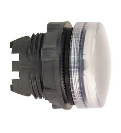 Schneider Electric ZB5AV01S Bílá signální hlavice ? 22 rýhovaná čočka pro BA9s žárovku
