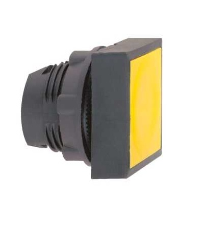 Schneider Electric ZB5CA5 žlutá čtver. zapuš. hlava tlačítka ? 22 s návratem neoznačená