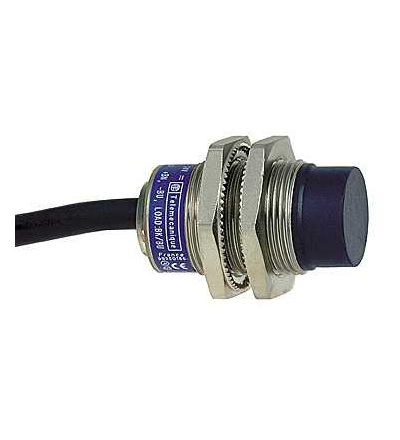 XS2N18NC410 Indukční čidlo XS2 M18, L37mm, mosaz, Sn8mm, 12..24VDC, kabel 2m, Schneider Electric