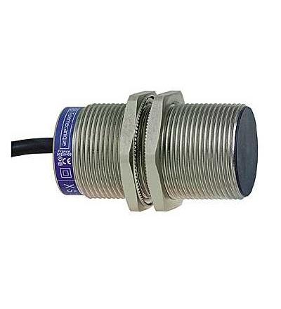 XS1M30MB250L2 Indukční čidlo XS1 M30, L60mm, mosaz, Sn10mm, 24..240VAC/DC, kabel 10m, Schneider Electric