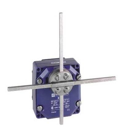 XCRF57 Polohový spínač XCR, kov. pevné T tyč. páka čtver. tyč 6mm, 2x(1Z+1V), Schneider Electric