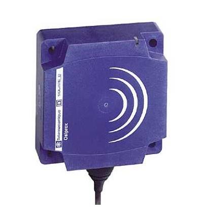 XS9D111A2L2 Indukční čidlo XS9 80x80x26, PBT, Sn40mm, 24VDC, kabel 2m, Schneider Electric