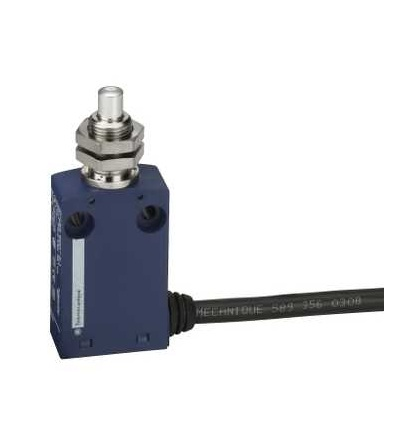 XCMN21F0L2 Polohový spínač XCMN, M12 kovový koncový ovládací čep, 1V+1Z, mžik., 2m, Schneider Electric