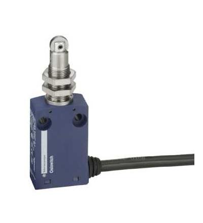 XCMN21F2L2 Polohový spínač XCMN, M12 čep s ocelovou kladkou, 1V+1Z, mžik., 2m, Schneider Electric