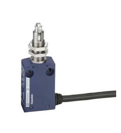 XCMN21F3L1 Polohový spínač XCMN, M12 čep s ocelovou kladkou, 1Z+1V, mžik. funkce, 1m, Schneider Electric