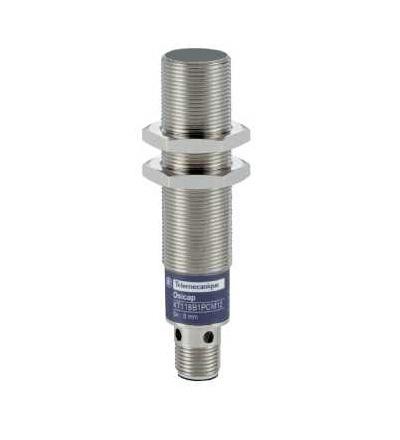 XT118B1PCM12 Kapacitní čidlo, XT1, válcové M18, mosaz, Sn 5mm, 24 V DC, Schneider Electric
