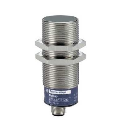 XT130B1PCM12 Kapacitní čidlo, XT1, válcové M30, mosaz, Sn 10mm, Schneider Electric