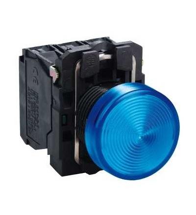 Schneider Electric ZB5AV063S Modrá signální hlavice ? 22 rýhovaná čočka pro integ. LED