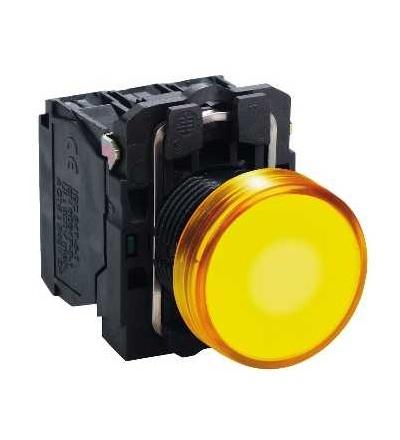 Schneider Electric XB5AVM5 Oranžová kompletní signálka ? 22 plná čočka integ. LED 230...240V
