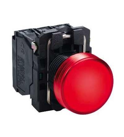 Schneider Electric XB5AVM4 červená kompletní signálka ? 22 plná čočka integ. LED 230...240V