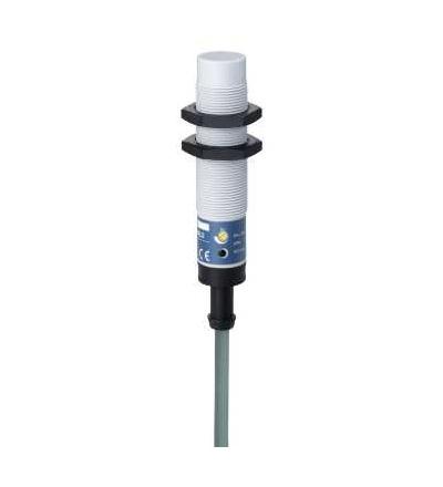 XT218A1PAL2 Kapacitní čidlo, XT1, válcové M18, plast, Sn 8mm, kabel 2mm, Schneider Electric
