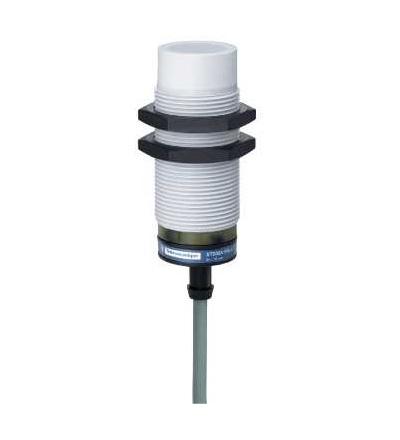 XT230A1PAL2 Kapacitní čidlo, XT1, válcové M30, plast, Sn 15mm, kabel 2mm, Schneider Electric
