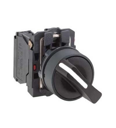 Schneider Electric XB5AD41 černý kompletní otočný přepínač ? 22 2-polohy s návratem 1Z