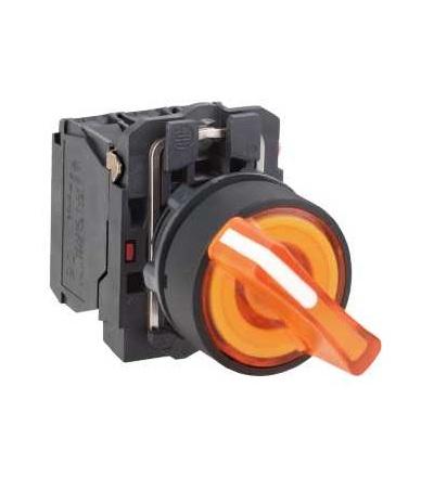 Schneider Electric XB5AK125M5 Ovládač otočný ? 22 prosvětlený s LED, 1 Z+1 V, 230...240V, žlutý