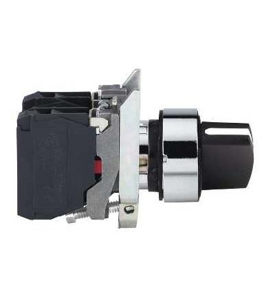Schneider Electric XB4BD53EX černý otočný ovládač ? 22, 3 polohy+/, 45°, s návratem, ATEX