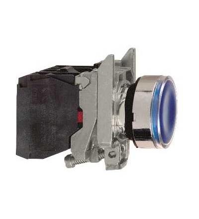 Schneider Electric XB4BW36M5 Modrá ovládač stiskací prosvětlený lícující ? 22 s návratem 1Z+1V 220...240V