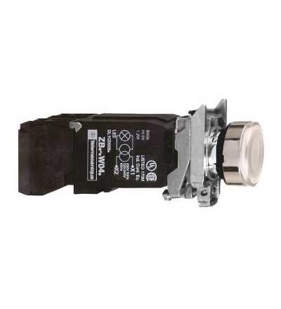 Schneider Electric XB4BW3145 Bílá ovládač stiskací prosvětlený lícující ? 22 s návratem 1Z+1V 220...240V