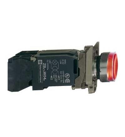Schneider Electric XB4BW3445 červená ovládač stiskací prosvětlený lícující ? 22 s návratem 1Z+1V 220...240V