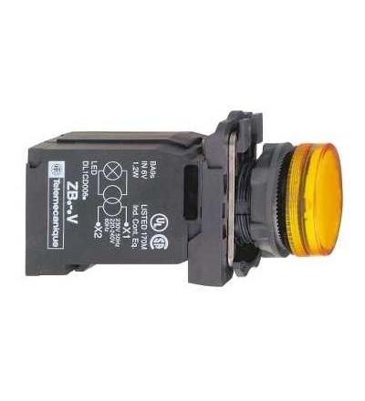 Schneider Electric XB5AV45 Oranžová kompletní signálka ? 22 plná čočka s BA9s žárovkou 220...240V