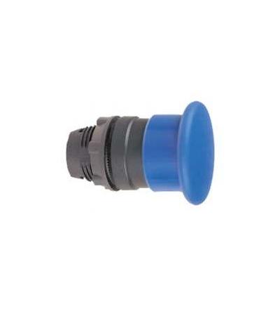 Schneider Electric ZB5AW763 Modrá O40 prosvět. hlavice s hřibovým tlačítkem ? 22 s aretací pro integ. LED