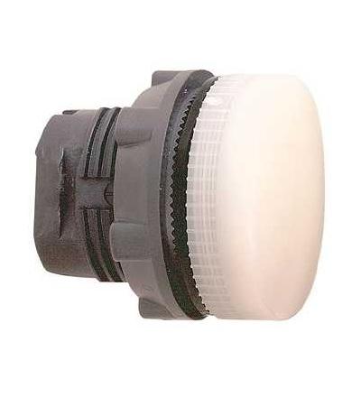 Schneider Electric ZB5AV013 Bílá signální hlavice ? 22 plná čočka pro integ. LED