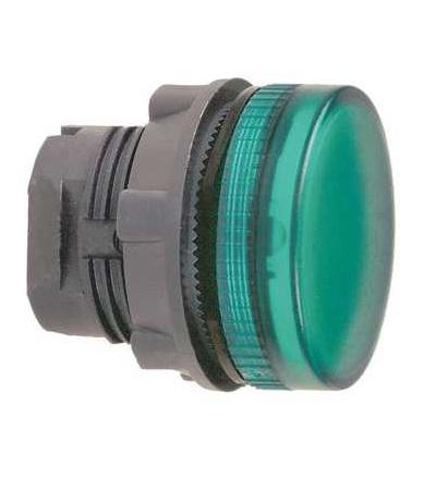 Schneider Electric ZB5AV033 Zelená signální hlavice ? 22 plná čočka pro integ. LED