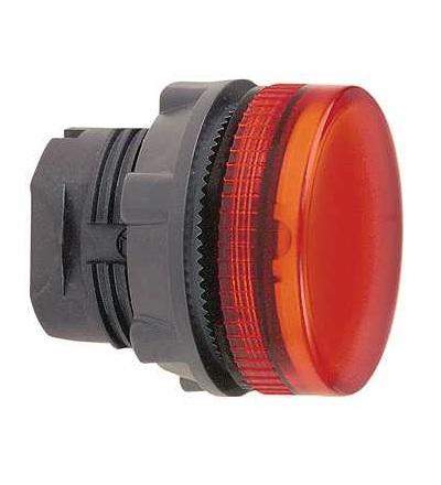 Schneider Electric ZB5AV04S červená signální hlavice ? 22 rýhovaná čočka pro BA9s žárovka