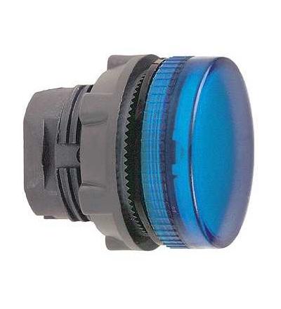 Schneider Electric ZB5AV06 Modrá signální hlavice ? 22 plná čočka pro BA9s žárovka