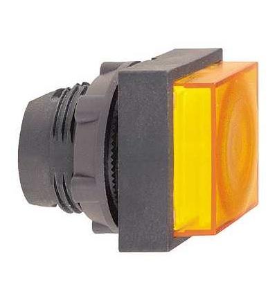 ZB5CW153 Ovl. hlavice ? 22 stiskací prosvět., s přesah., s návratem pro LED, Schneider Electric