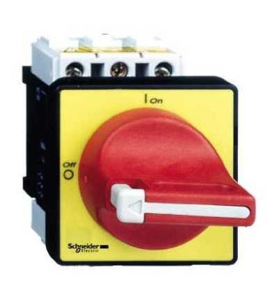 Schneider Electric VCF4 Odpínač VCF, TeSys, 3p, 690 V 80A, uzamykatelná červená rukojeť