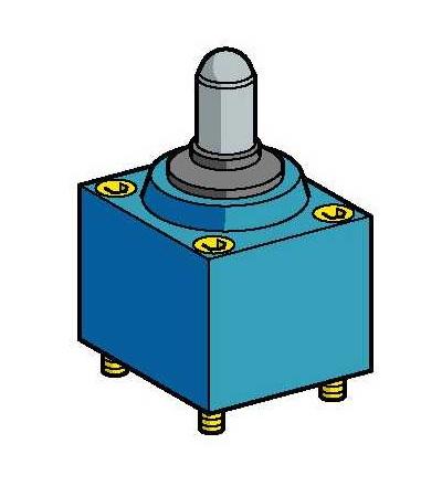 ZC2JE665 Hlava polohového spínače ZC2J, čep s ocelovou kuličkou, (+120°C), Schneider Electric
