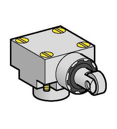ZCKE655 Hlavice polohového spínače ZCKE-boční čep s ocelovou kladkou svislý-(+120°C), Schneider Electric