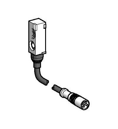 XS7J1A1PBL01M8 Indukční čidlo XS7 8x22x8, PBT, Sn2,5mm, 12..24VDC, M8 0,15m, Schneider Electric