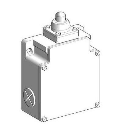 XCKML510 Polohový spínač XCKML-kovový koncový ovládací čep-2x(1V+1Z)-s prodlevou-Pg13, Schneider Electric