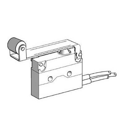 XEP4E1FDA454 Miniaturní polohový spínač, páka s kladkou, kabel délka 0,5m, Schneider Electric