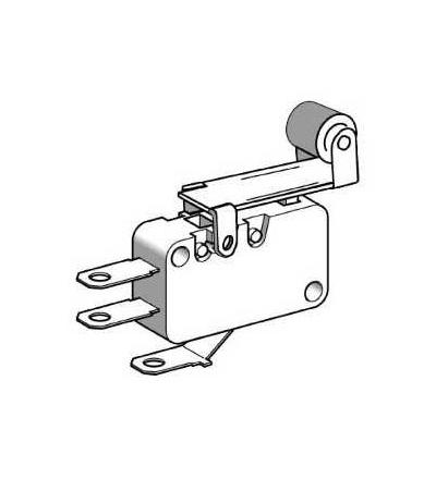 XEP3S1W6B529 Miniaturní polohový spínač, páka s kladkou, 4,8mm kabel.nacvak.čep, Schneider Electric