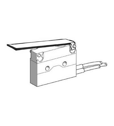 XEP4E1FDA326 Miniaturní polohový spínač, plochá páka, kabel délka 0,5m, Schneider Electric