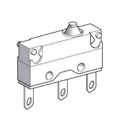 XEP4E1W7 Miniaturní polohový spínač, plochý čep, 2,8mm kabel.nacvak.čep, Schneider Electric