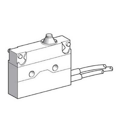 XEP4E1FD Miniaturní polohový spínač, plochý čep, délka kabelu 0,5m, Schneider Electric