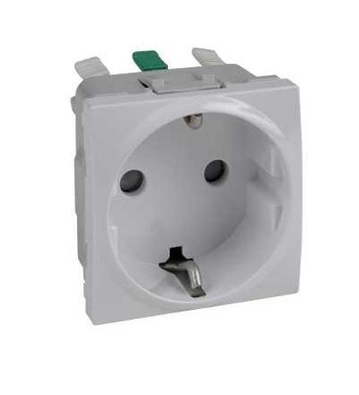 Schneider Electric MGU3.057.18 Zásuvka 230V/16A, 2P+PE Schuko, bezšroubová, polar