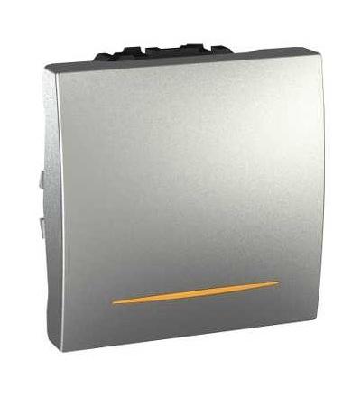 MGU3.261.30S Spínač jednopólový se signalizační kontrolkou, řazení 1Ss,16A, alu, Schneider Electric