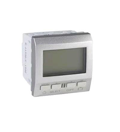 Schneider Electric MGU3.505.30P Termostat týdenní programovatelný s podlahovým čidlem, alu