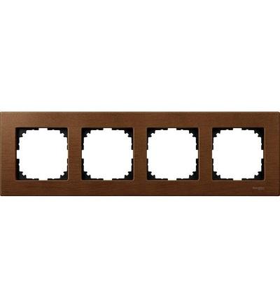 Schneider Electric MTN4054-3472 Merten M-Elegance Wood, krycí rámeček, 4-násobný, cherry wood