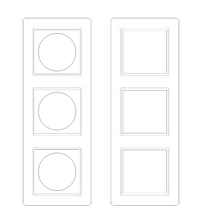 Schneider Electric MTN4063-3500 Labelling sheets for 3 gang frame, System M