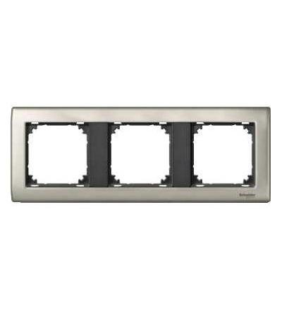 Schneider Electric MTN467314 Merten, M-Star rámeček, 3násobný, satin silver/antracit