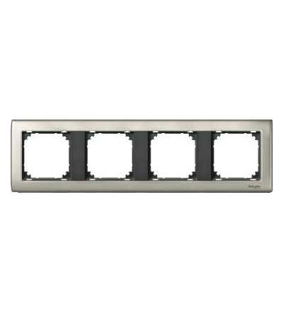 Schneider Electric MTN467414 Merten, M-Star rámeček, čtyřnásobný, satin silver/antracit