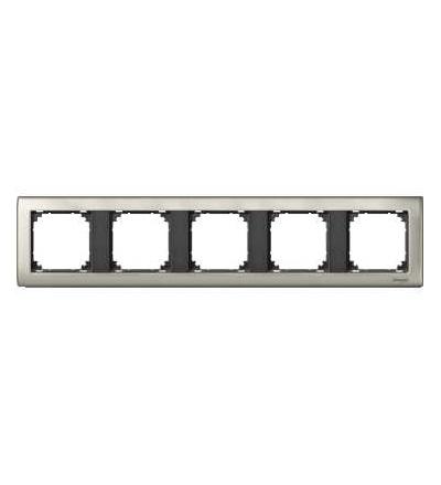 Schneider Electric MTN467514 Merten, M-Star rámeček, pětinásobný, satin silver/antracit
