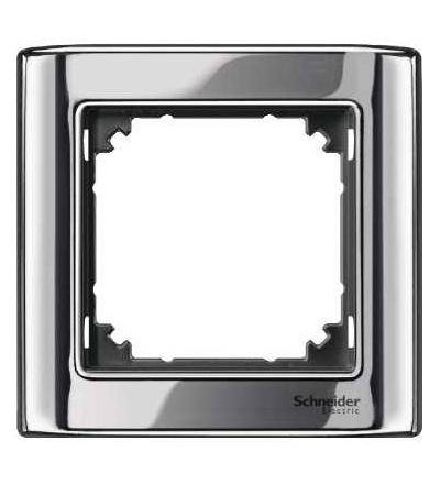Schneider Electric MTN477114 Merten, M-Star rámeček, jednonásobný, chrome/antracit